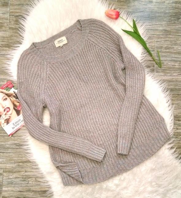 Papaya ciepły pleciony sweter melanżowy M 38