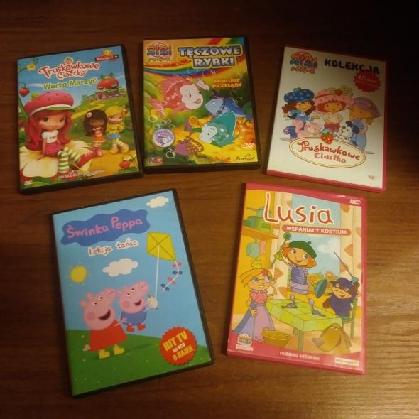 bajki DVD dla dzieci Świnka Peppa Truskawkowe Ciastko i inne