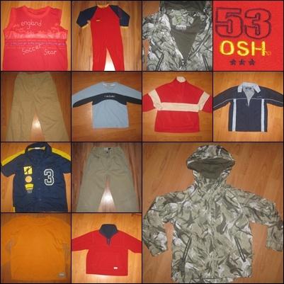 Pozostałe 11 szt PAKA zestaw ubrań dla chłopca wiek 5 6 lat