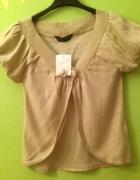 Nowe złote bolerko idealne do sukienkina bal wes...