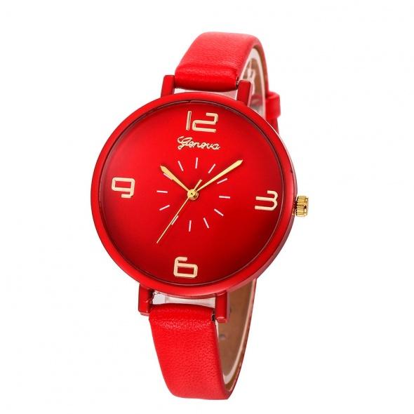Zegarek damski kwarcowy z duza tarcza