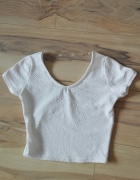 Krótki top biały wzór xs amisu must have...