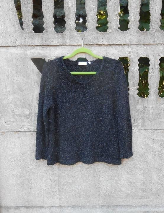 czarny Sweter L XL ze srebrną nitką C&A...