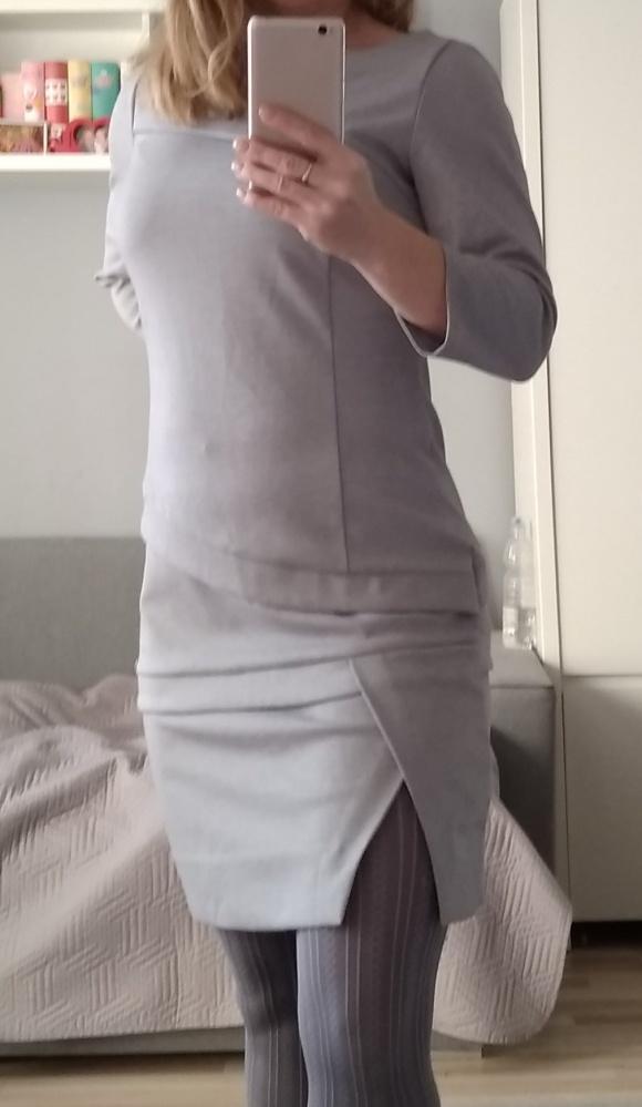 Szara sukienka XS S