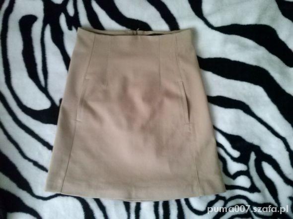 Spódnice karmelowa spódnica Zara