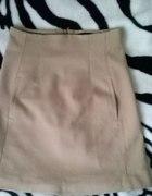 karmelowa spódnica Zara...