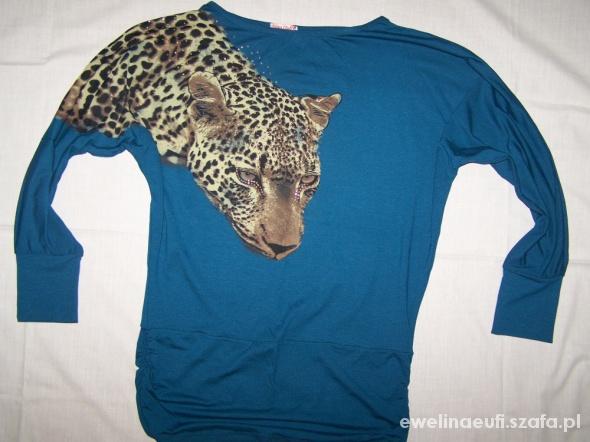 Nina Club Bluzka tygrys panterka cyrkonie 36 38 40