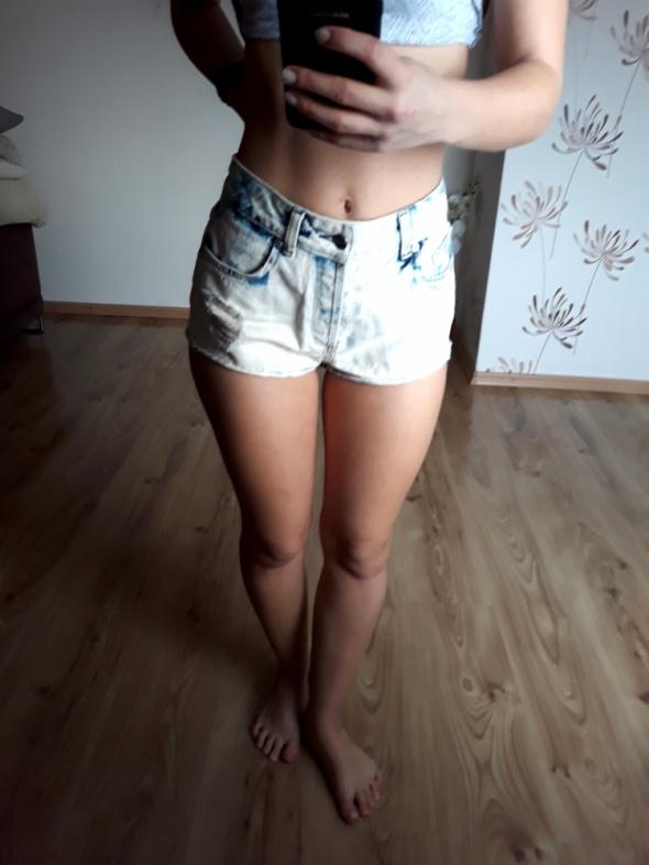krótkie spodenki jeansowe szorty ombre S