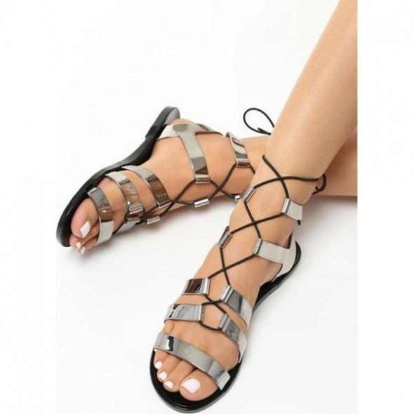 Ciemnosrebrne Sandały Daryl41