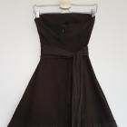 Sukienka Orsay brązowa princeska haftowana z kokardą XS 34