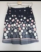 Nowa spódnica Orsay w kropki grochy szara XS 34