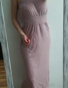 Primark sukienka maxi liliowa M L...