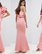 Maxi sukienka falbanki S...