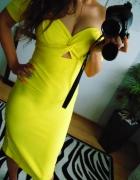 Elegancka żółta sukienka River Island