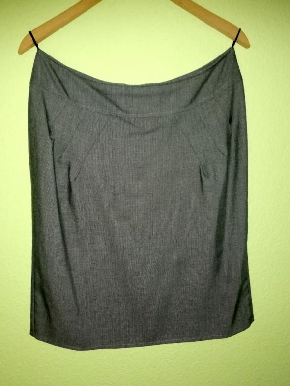Spódnica szara z rozporkiem XXL