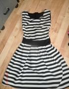Sukienka w paski 34 xs