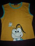 Żółta bluzeczka śmieszny nadruk...