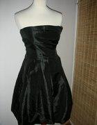 Sukienka bombka czarna bolerko...