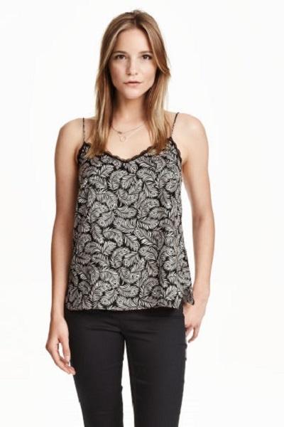 NOWA z metką H&M Koszulka Top w pióra