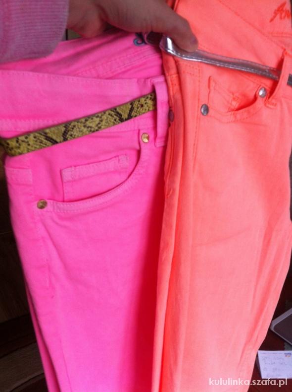 Skinny Jeans morelowe rurki fluo Denim Co