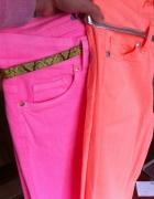 Skinny Jeans morelowe rurki fluo Denim Co...