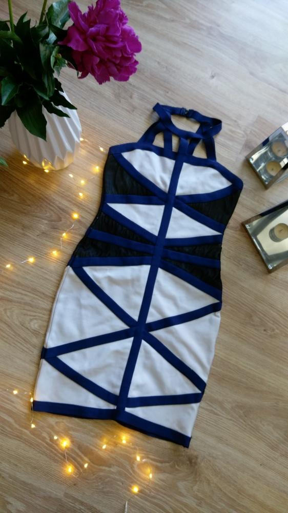 Sukienka bandażowa dopasowana bandage ASOS S...