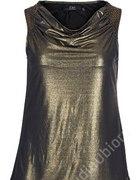 Złota rockowa bluzka top ZAY S rozmiar 44