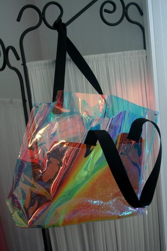 Torebka transparentna holograficzna shopper