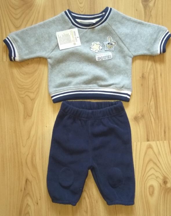 Nowy dres niemowlęcy ciepły polar bluza spodnie dresowe 56