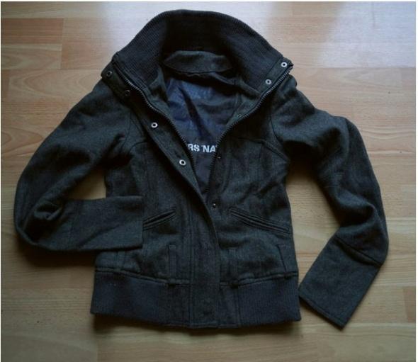 Szara bluza kurtka z naszywką czarnego kota kot kotek XXS
