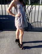 sukienka srebrna bershka...