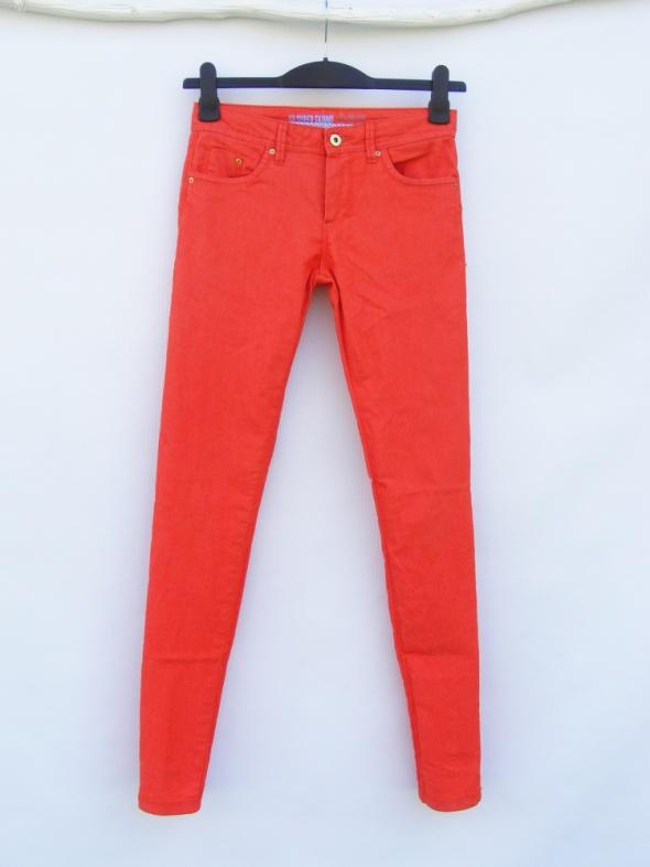 Spodnie Pomarańczowe spodnie Denim Co