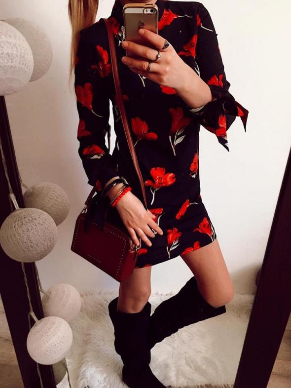 Sukienka Damska w kwiaty S M