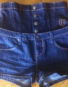 Spodenki z podwyższonym pasem jeans S 2 sposoby