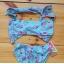 Nowy strój kąpielowy dziecięcy dziewczęcy bikini 3 lata flaming flamingi różowe