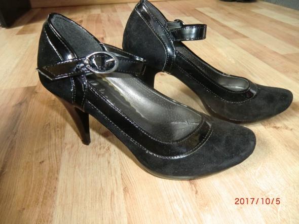 Czółenka Nowe buty 35 pantofle czarne