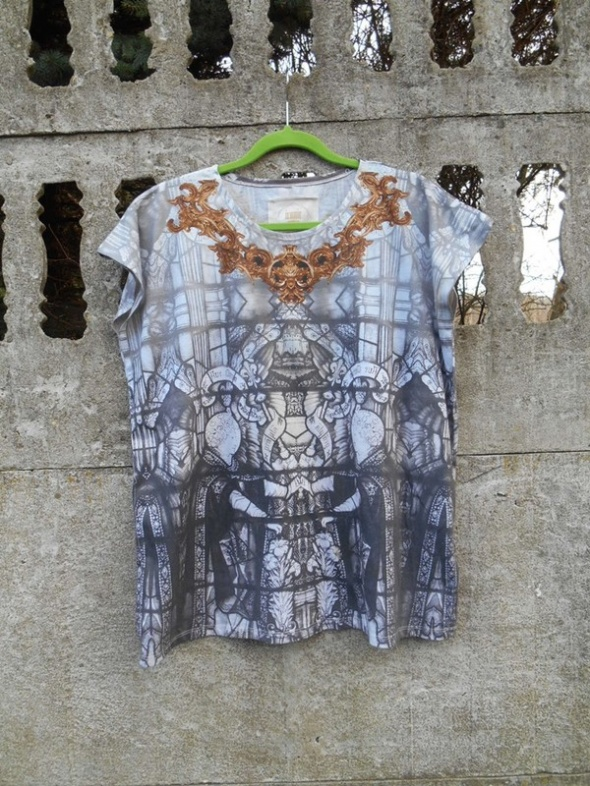 Modna Bluzka Oversize M L XL we wzory