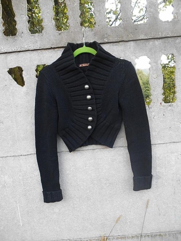 Czarne Bolerko 38 M sweter Kardigan