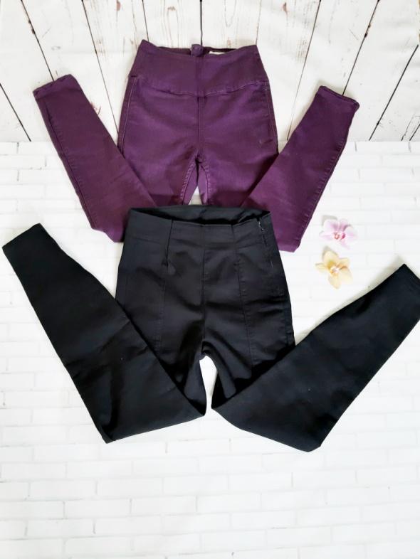Spodnie tregginsy Pieces wysoki stan XXs XS dla niskiej...