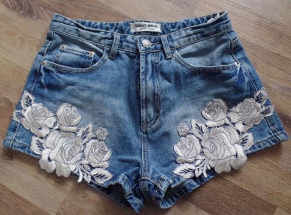 spodenki jeansowe tally weijl S