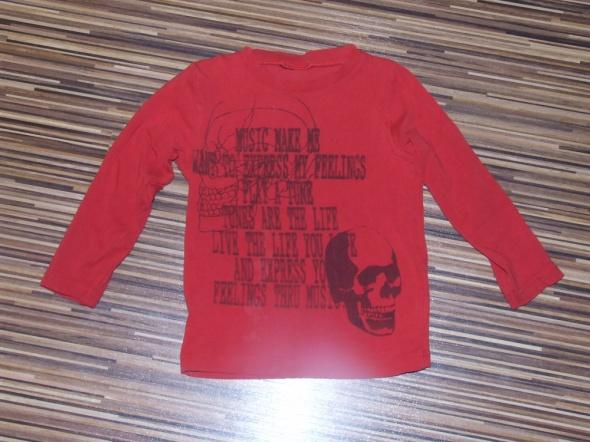 Bluzki czerwona bluzka KappAhl rozmiar 86