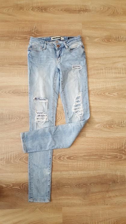 Zalando jeansowe rurki dziury przetarcia S 36