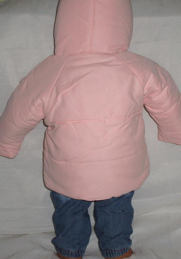 kurtka dla dziecka na jesień różowa na 6 mc