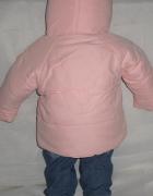 kurtka dla dziecka na jesień różowa na 6 mc...