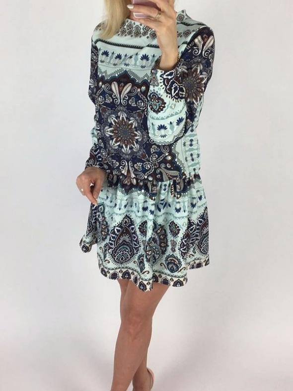 Suknie i sukienki sukienka aztec boho