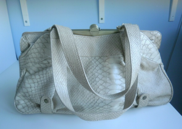 Fiorelli beżowa torebka torba faktura skóra nude...