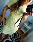 Cytrynowa elegancka sukienka...