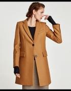 Zara wełniany płaszcz o męskim kroju S...