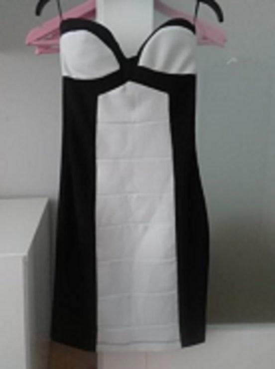 Sukienka bandażowa sexi czerń biel Tally Weijl xs xxs