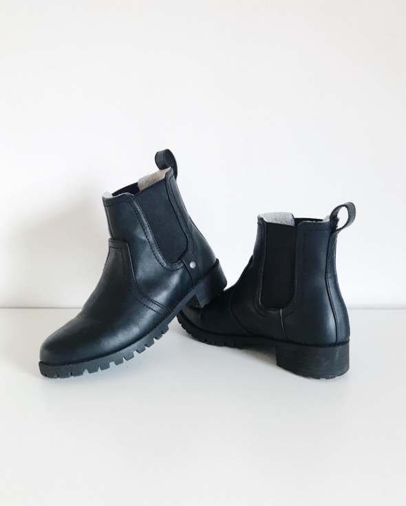 Czarne sztyblety H&M r36